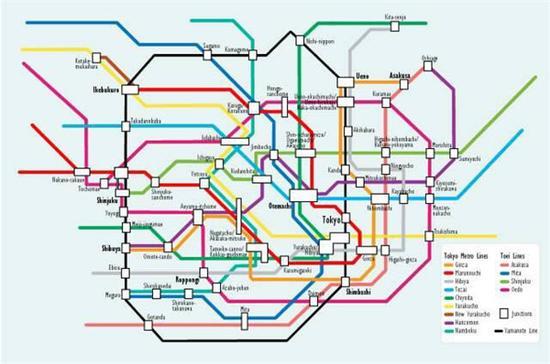 △东京地铁图