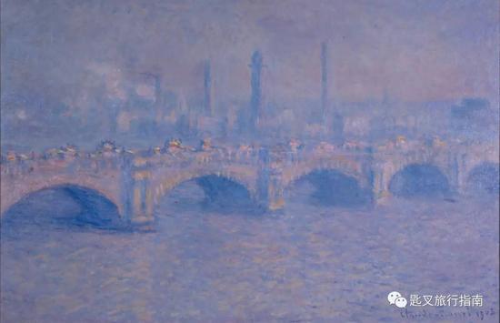 莫奈用大批作品夸赞了萨沃伊套房的河景