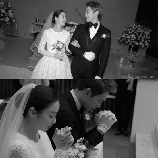 Rain和金泰希婚礼图片来源自微博@热门剧速递