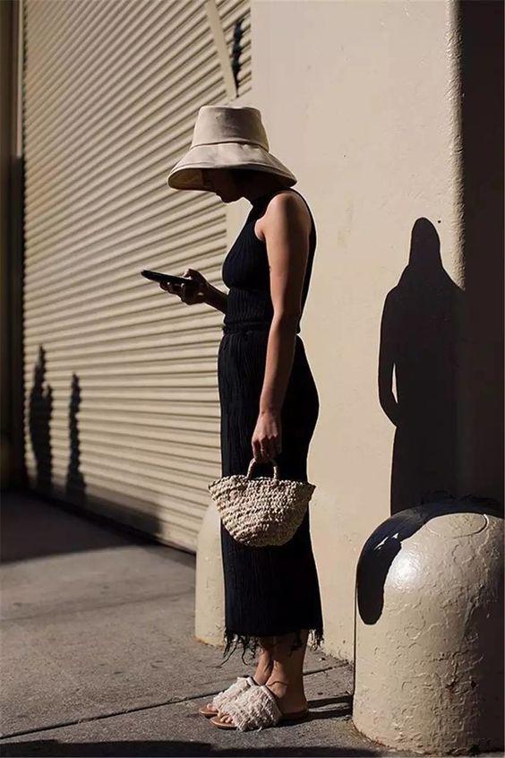 街拍中的渔夫帽