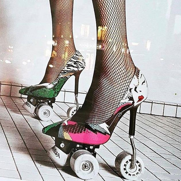 YSL推出了高跟版的溜冰鞋