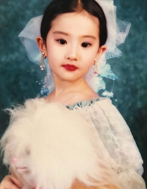 刘亦菲童年照