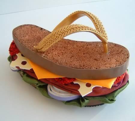 三明治拖鞋