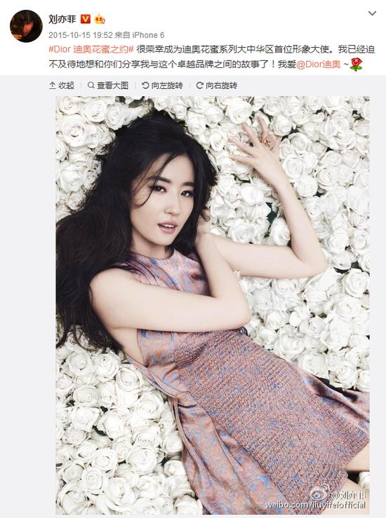 刘亦菲 Dior
