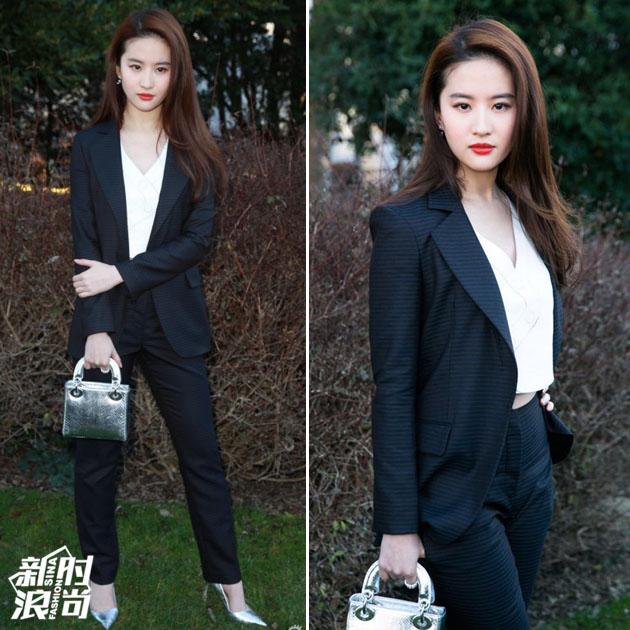 刘亦菲西服造型