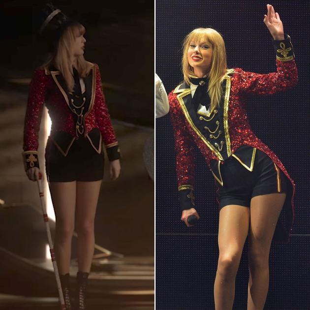 左:新MV造型,右:Red巡演造型