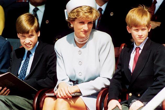 戴安娜和两个儿子