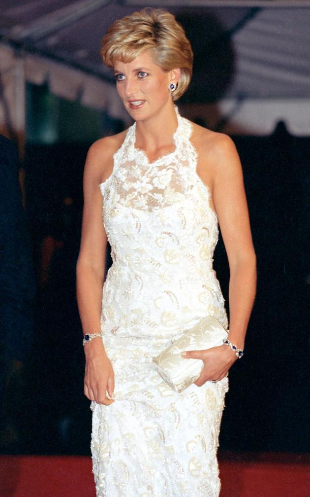 1996年戴安娜在华盛顿参加晚宴