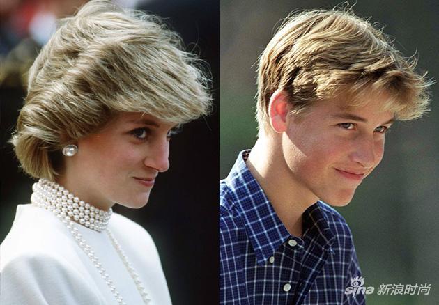 威廉长得特别像戴安娜