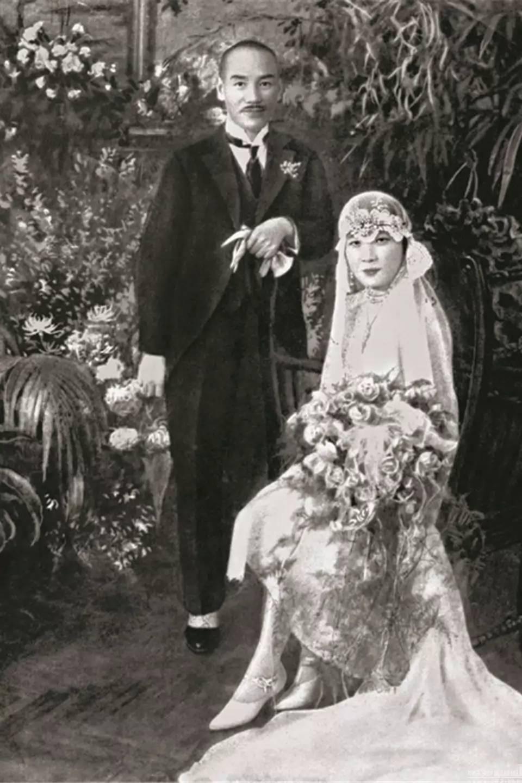 宋美龄拍婚纱照