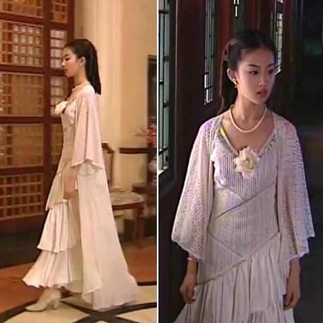 白秀珠长裙造型