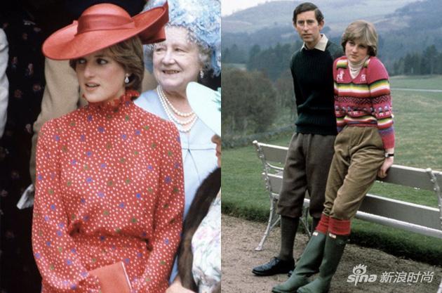 早年间,戴安娜的造型由王室形象顾问打理