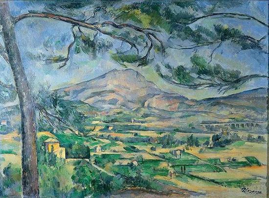 塞尚,《圣维克多山》,1885-1887年