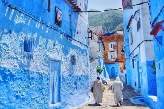 ▲蓝色摩洛哥山城