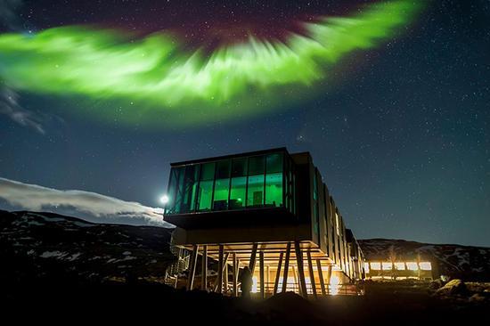 游客镜头下的离子冒险酒店,看见北极光了吗?
