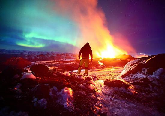 """""""冒险家们""""向火山进发"""