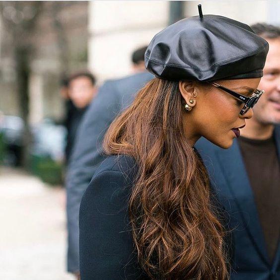 Riri戴的Dior贝雷帽