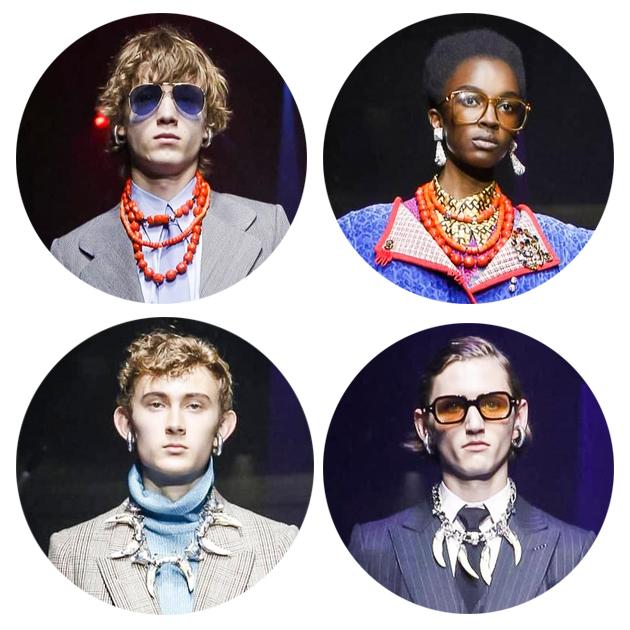 Gucci串珠项链和民族风项链