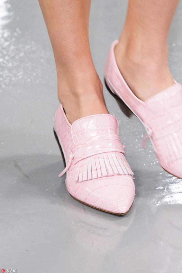 PORTS粉色复古单鞋