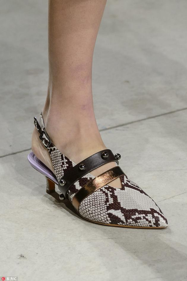 Cividini蛇皮纹单鞋