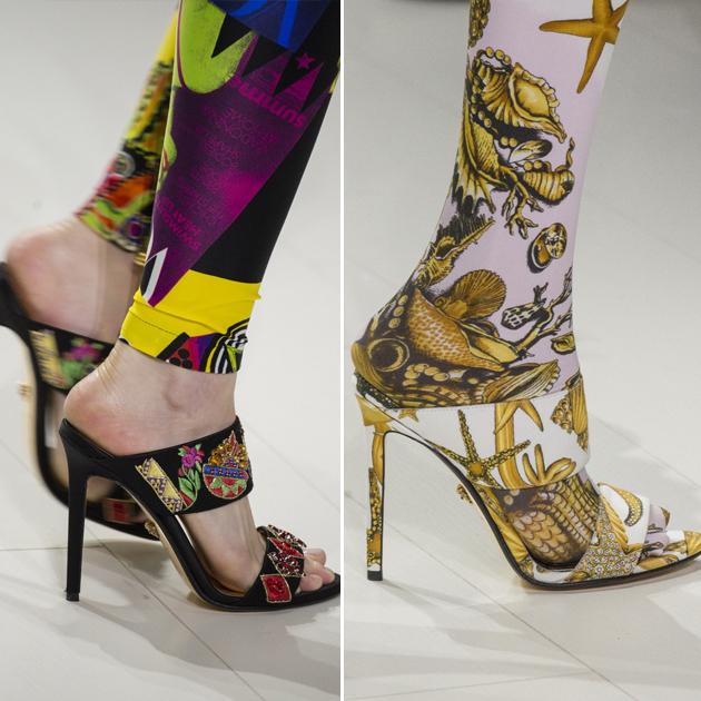 Versace浮夸的连裤袜