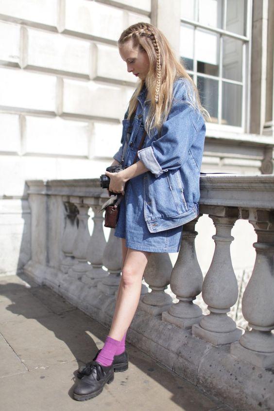 彩色袜子搭配牛津鞋