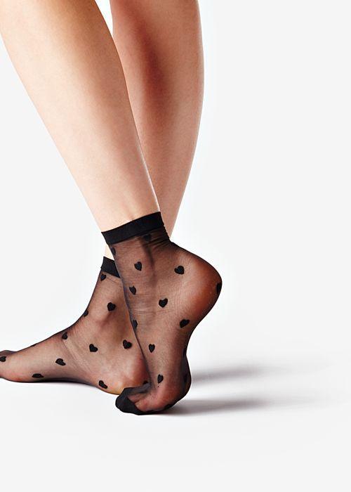 新型装饰图案的黑丝短袜