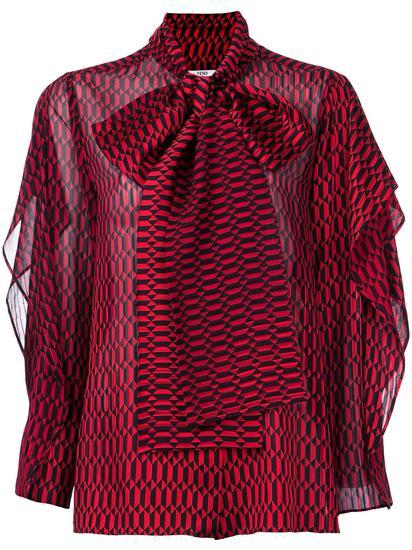Fendi 荷叶袖罩衫 约¥13195