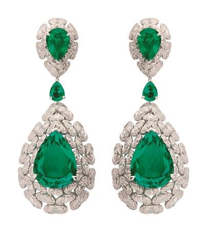 NIRAV MODI妮华莫迪Regal祖母绿宝石及钻石耳环