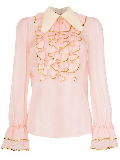 Gucci 亮片荷叶边罩衫 约¥15800