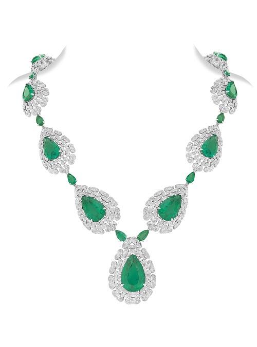 NIRAV MODI妮华莫迪Regal祖母绿宝石及钻石项链