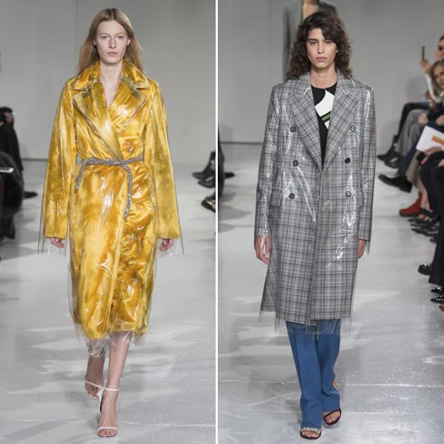Calvin Klein 2017秋冬系列中的透明雨衣