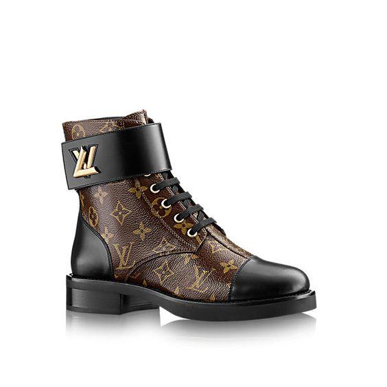 LV Monogram图案中靴