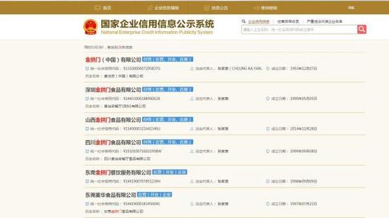 国家企业信用信息公示系统官网截图