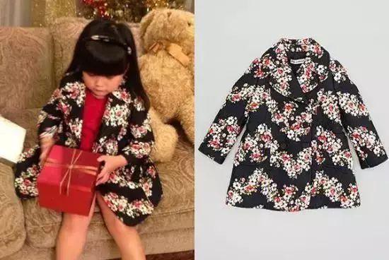 王诗龄穿Dolce & Gabbana印花外套