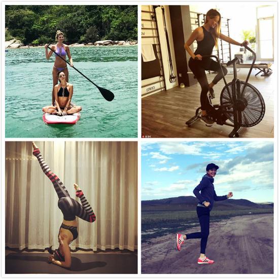 这些运动女星们全在做