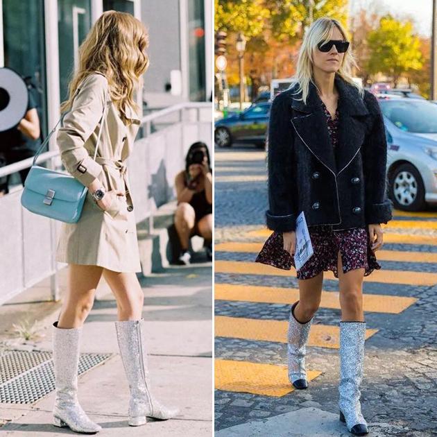 Chanel高靴街拍