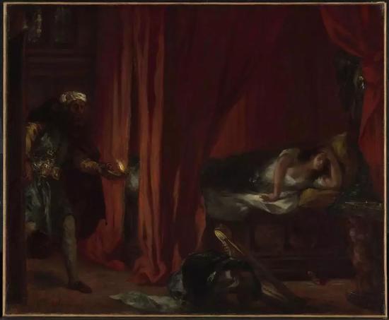 欧仁·德拉克洛瓦,《Othello and Desdemona》(1847-1849)