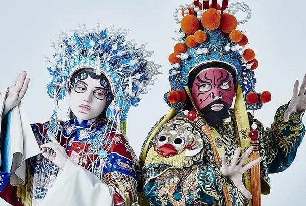 中国特色的京剧脸谱款面膜