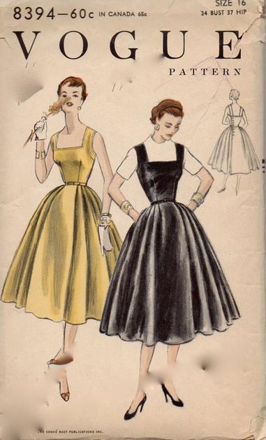 復古方領連衣裙