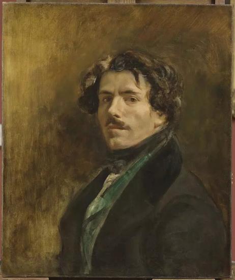 欧仁·德拉克洛瓦, 《穿着绿马甲的自画像》(Self-Portrait with Green Vest,约1837)