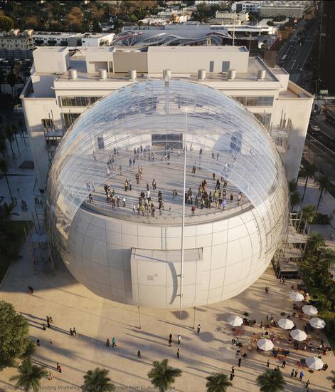 美国影艺学院博物馆将是全球首个专注于探索电影及电影制作艺术与科学的机构。©Renzo Piano Building Workshop ©A.M.P.A.S. Image from L`Autre Image