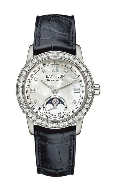 李纯佩戴宝珀月亮美人全历月相腕表