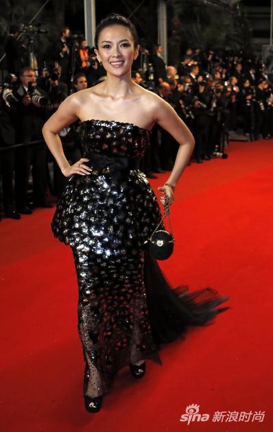 2013年戛納紅毯上的章子怡