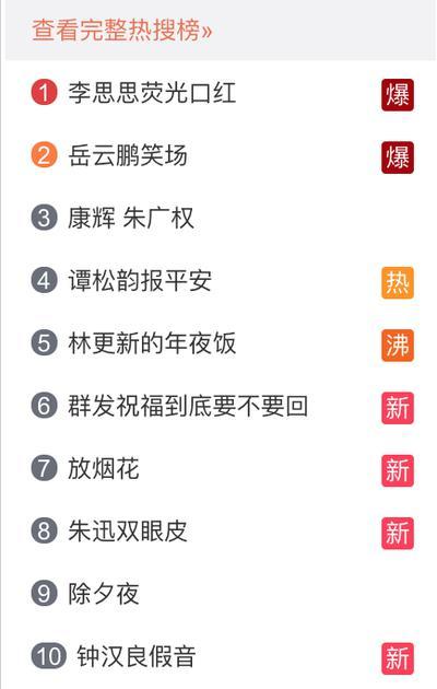 图片来源:微博热搜榜单