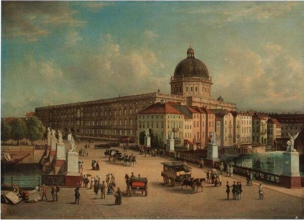 柏林博物馆岛旁原本有座德皇的皇宫。 图:取自stadtschloss-berlin.de网站 Public Domain