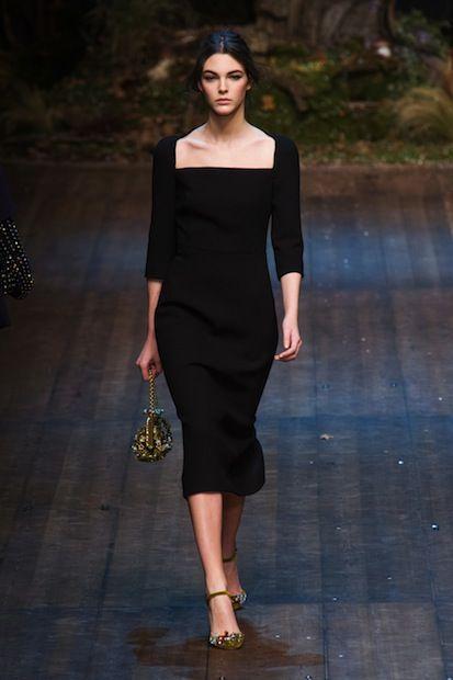 Dolce and Gabbana復古方領連衣裙