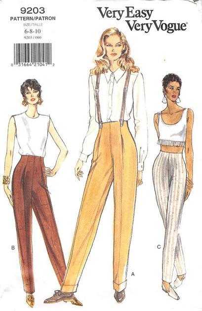 1995时期vogue展示的背带裤