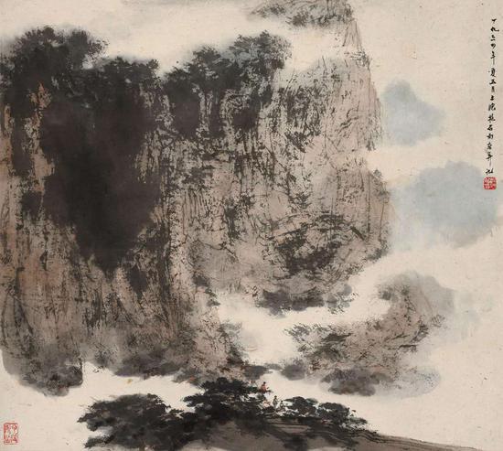 傅抱石(1904-1965) 太华漫记