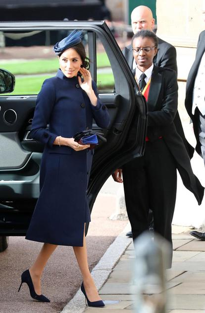 梅根参加Eugenie公主婚礼